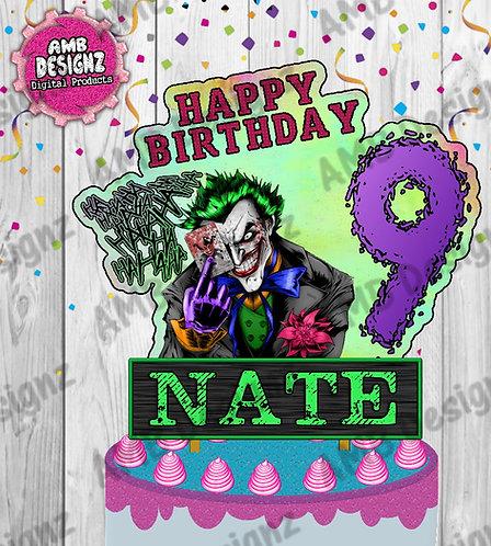 Joker Cake Topper Centerpiece - Joker Party Supplies