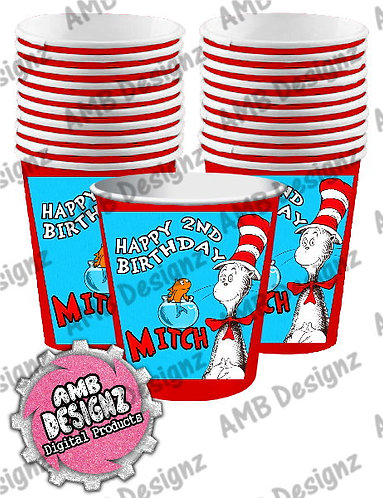 Dr. Seuss The Cat in the Hat Party Cups Party Supplies
