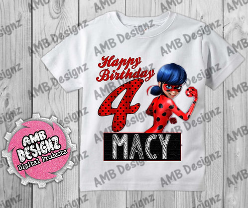 Miraculous Ladybug T-Shirt Birthday Image - Miraculous Ladybug Party Supplies
