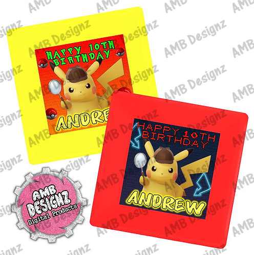 Pikachu Pokemon Party Plates - Pikachu Detective Party Supplies