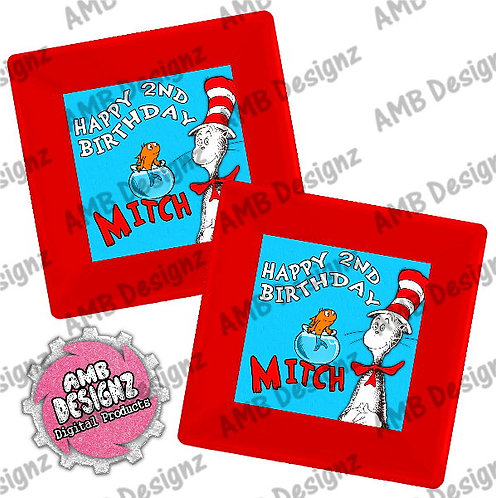 Dr. Seuss The Cat in the Hat Plates Party Supplies