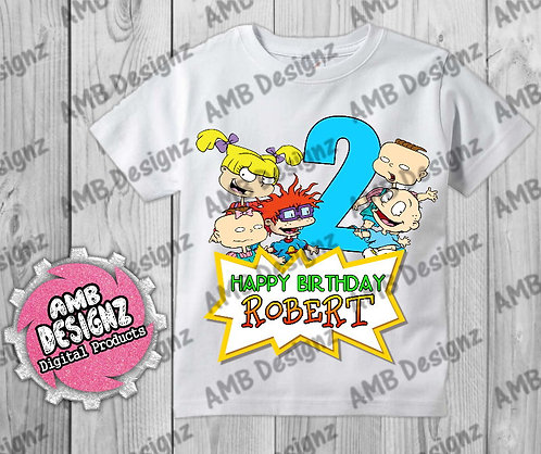 Rugrats T-Shirt Birthday Image - Rugrats Party Supplies