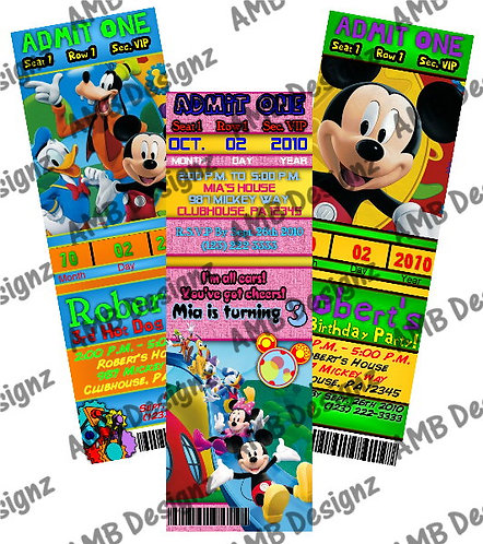 Disney Mickey Invitations