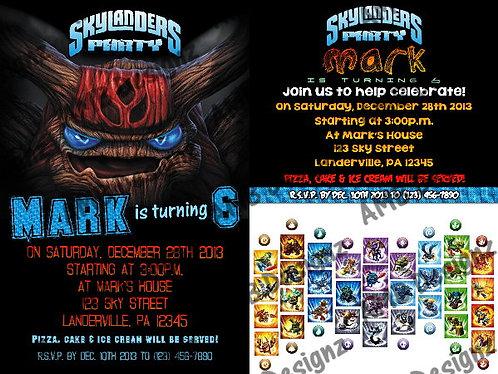 Skylanders Invitations