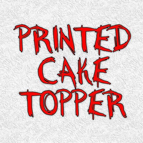 Printed Cake Topper