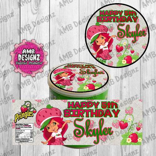 Strawberry Shortcake Pringles Can Labels - Strawberry Shortcake Party Supplies