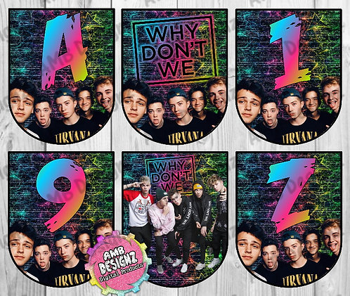 Why Don't We Party Banner - Why Don't We Party Supplies