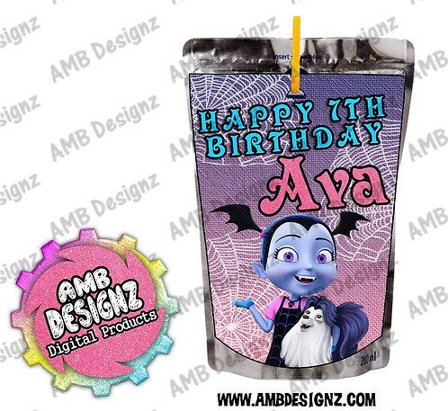 Vampirina Capri-Sun Juice Pouch Label - Vampirina Party Supplies