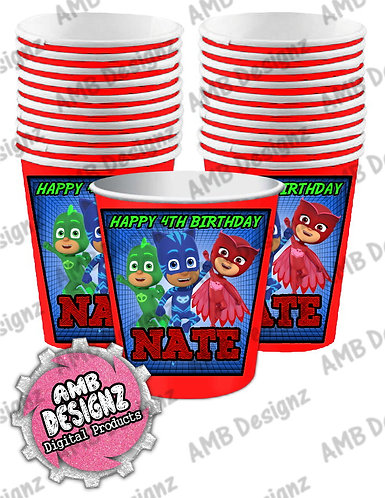 PJ Mask Party Cups - PJ Mask Party Supplies