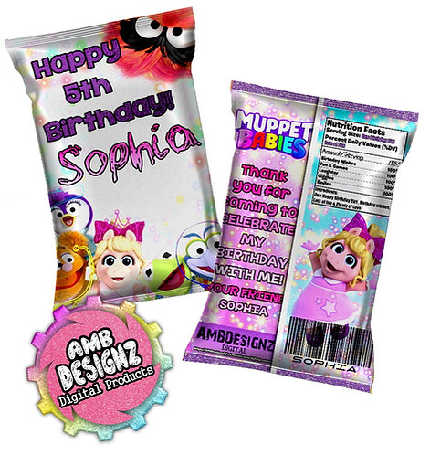 Muppet Babies Chip Bag Favor
