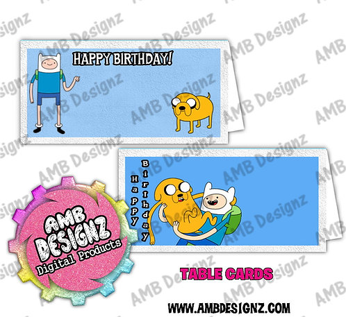 Adventure Time Table Card Set - Adventure Time Party Supplies