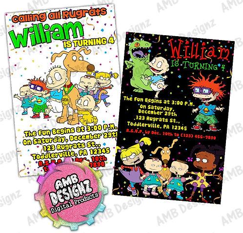 Rugrats Invitations Party Supplies