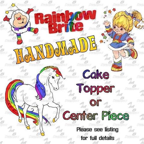 Rainbow Brite Cake Topper Centerpiece