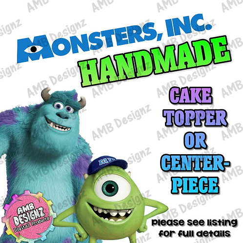 Monsters Inc Cake Topper Centerpiece