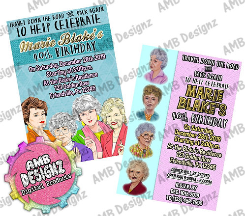 Golden Girls Invitations - Golden Girls Party Supplies