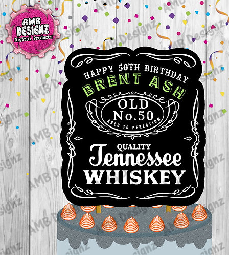 Jack Daniels Cake Topper Centerpiece - Jack Daniels Party Supplies