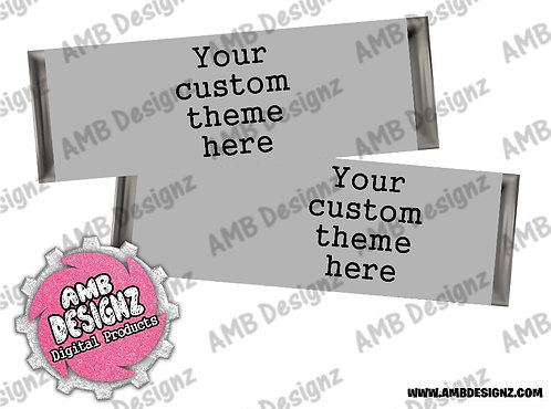 Custom Any Theme Candy Bar Wrapper, Custom Party Supplies