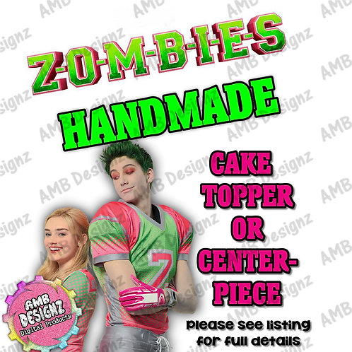 Disney Zombies Cake Topper Centerpiece