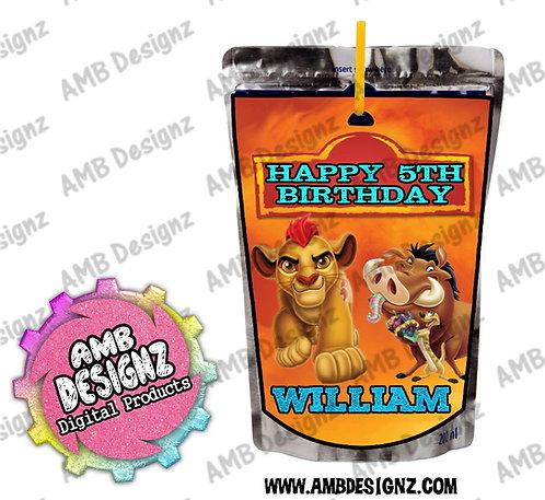 Lion Guard - Lion King Capri-Sun Pouch Label - Lion Guard Party Supplies
