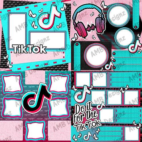 Tik Tok Digital Scrapbooking Premade Pages - Party scrapbook keepsake - Tik Tok party supplies
