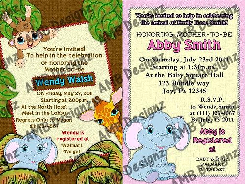 Baby animal invitations