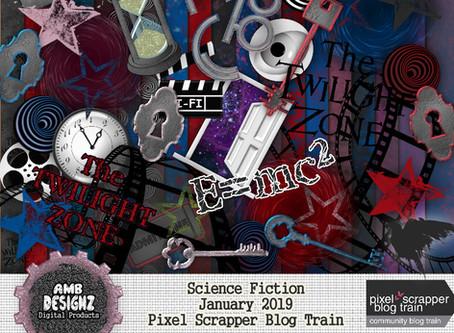 Pixel Scrapper - January 2019 Blog Train - Science Fiction