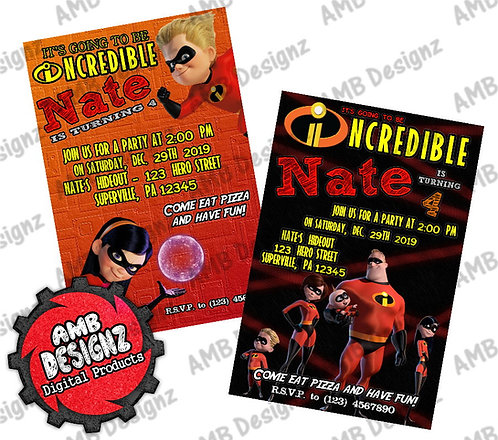 The Incredibles Invitations - The Incredibles Party Supplies