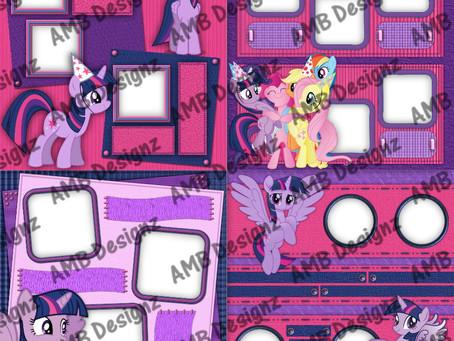 My Little Pony Huge Digital Scrapbooking Premade Album