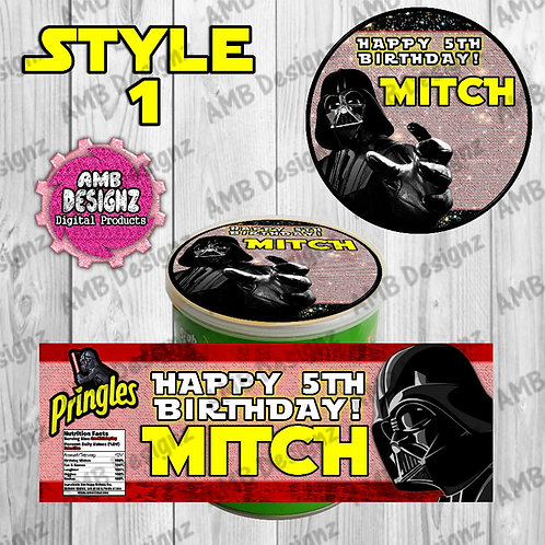 Star Wars Pringles Can Labels - Star Wars Party Supplies