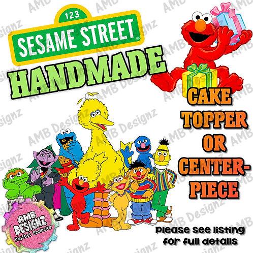Sesame Street Cake Topper Centerpiece