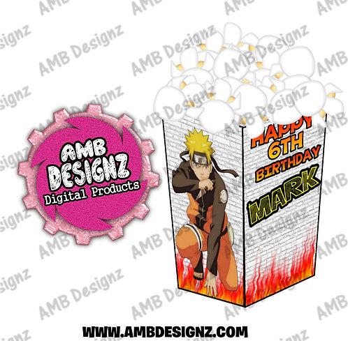 Naruto Popcorn Box Favor - Naruto Party Supplies