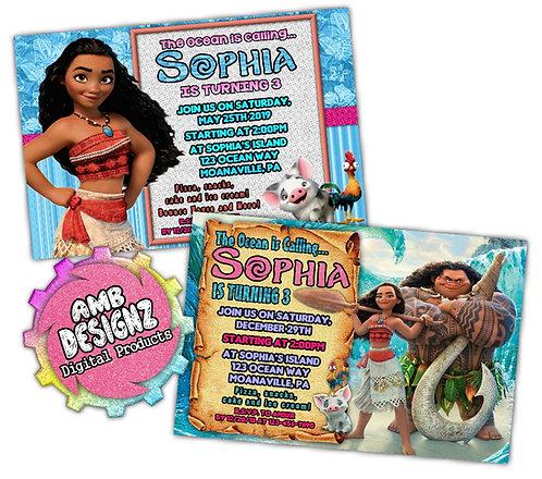 Disney's Moana Invitations Party Supplies