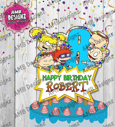 Rugrats Cake Topper Centerpiece