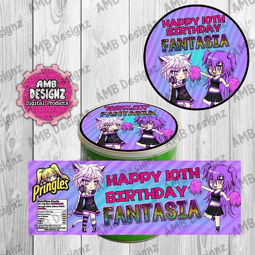 Gotcha Life Pringles Can Labels - Gotcha Life Party Supplies