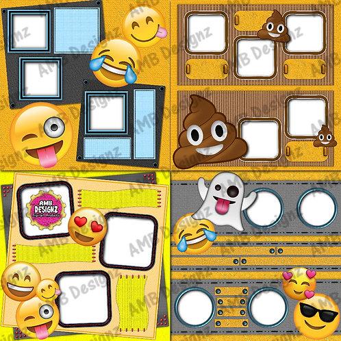 Emoji Scrapbooking keepsake - Emoji Premade Pages