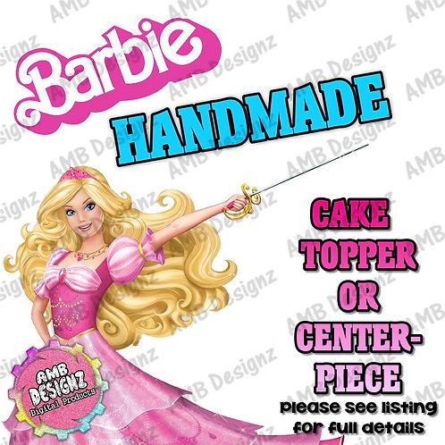 Barbie Cake Topper Centerpiece