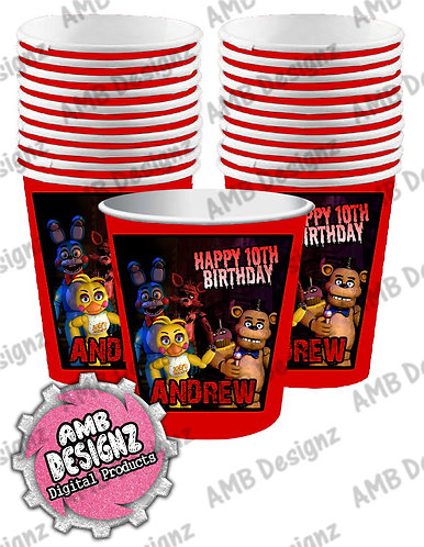 Five Nights at Freddy's (FNAF) Party Cups - FNAF Party Supplies