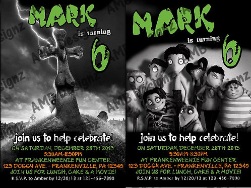 Frankenweenie Invitations