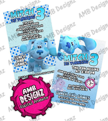 Blues Clues Invitations - Blues Clues Party Supplies
