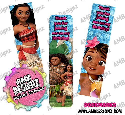 Disney's Moana Bookmark Party Favors - Moana Party Supplies