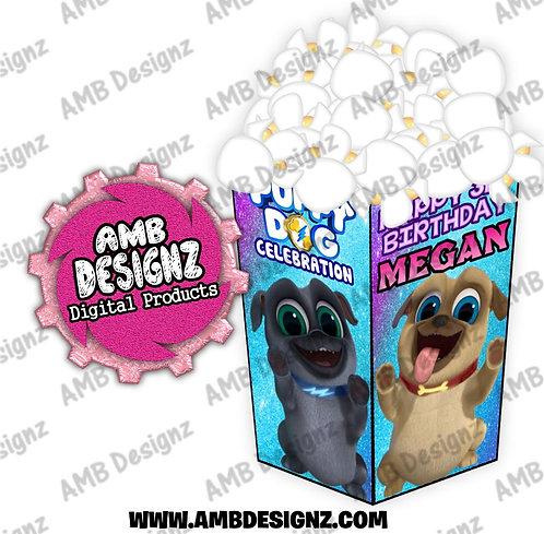 Puppy Dog Pals Popcorn Box Favor - Puppy Dog Pals Party Supplies
