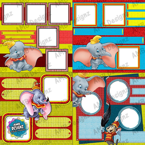 Dumbo Digital Scrapbooking Premade Album/Pages