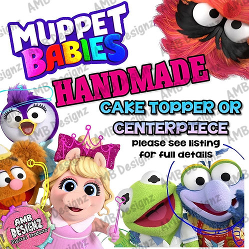 Muppet Babies Cake Topper Centerpiece - Muppet Babies Party Supplies