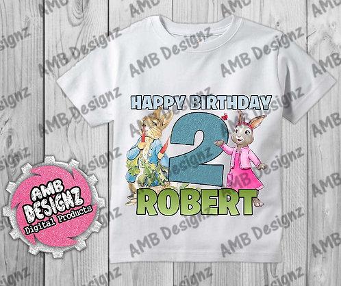 Peter Rabbit T-Shirt Birthday Image - Peter Rabbit Party Supplies