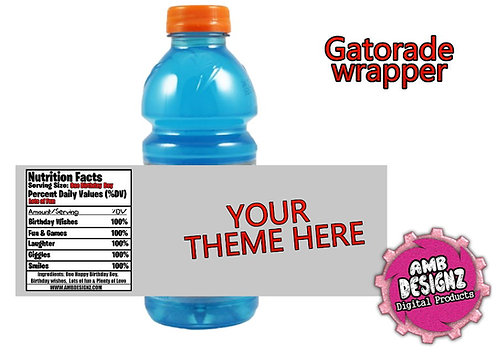 Custom Gatorade Label Party Supplies