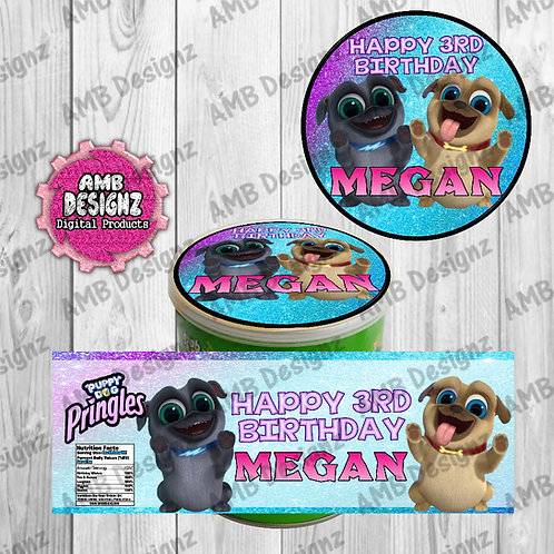 Puppy Dog Pals Pringles Can Labels - Puppy Dog Pals Party Supplies