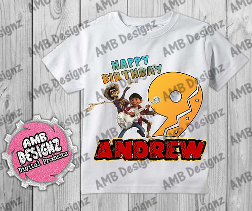 Coco T-Shirt Birthday Image - Coco Party Supplies