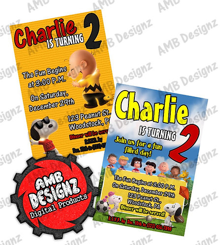 Peanuts Charlie Brown Snoopy Invitations Party Supplies
