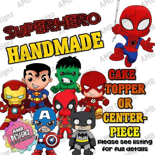 Superhero Cake Topper Centerpiece