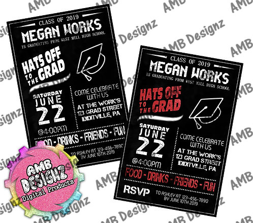 Hats Off to the Grad Graduation Invitations - Graduation Party Supplies